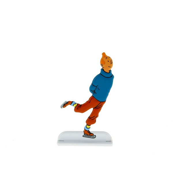 Tintin Metal Figure Ice Skating