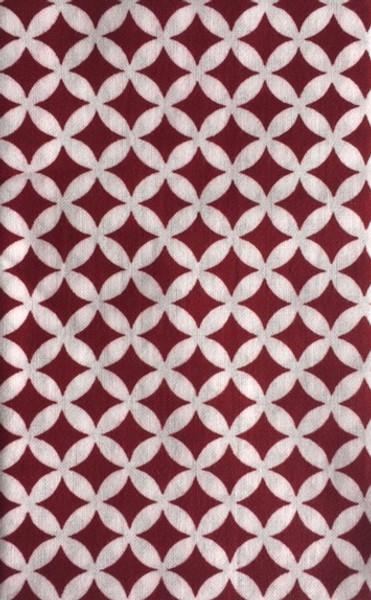 Kawamanu Tenugui Treasures burgundy / Multi-purpose Japanese Cloth
