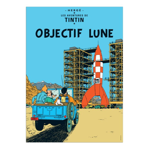 Tintin Poster Objectif Lune