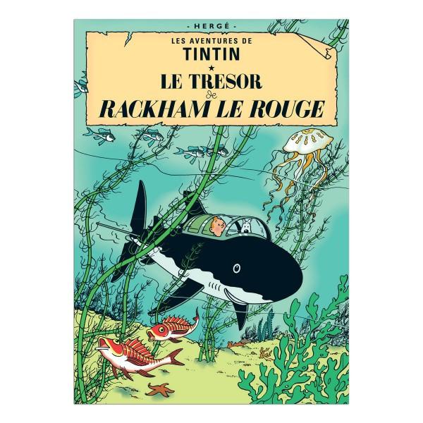 Tintin Poster Le Tresor de Rackham Le Rouge