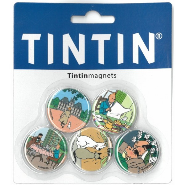 Tintin Magnet Set of 5 Round