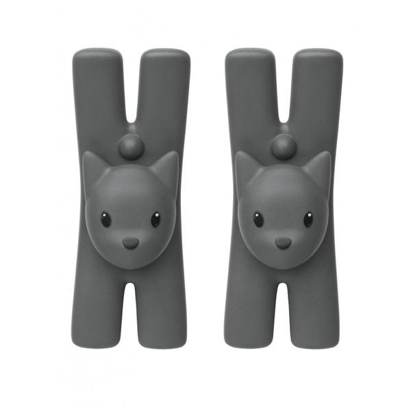 alessi-lampo-cat magnetic clip set 2 black