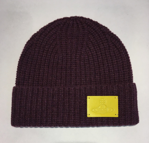 vivienne westwood beanie with orb red