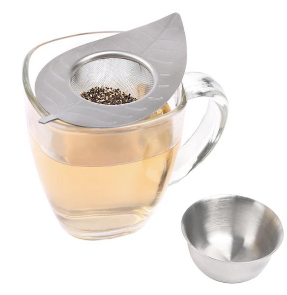 leaf tea strainer kikkerland