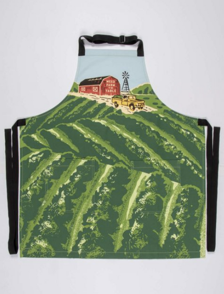 Weed Farm to Table blue q apron