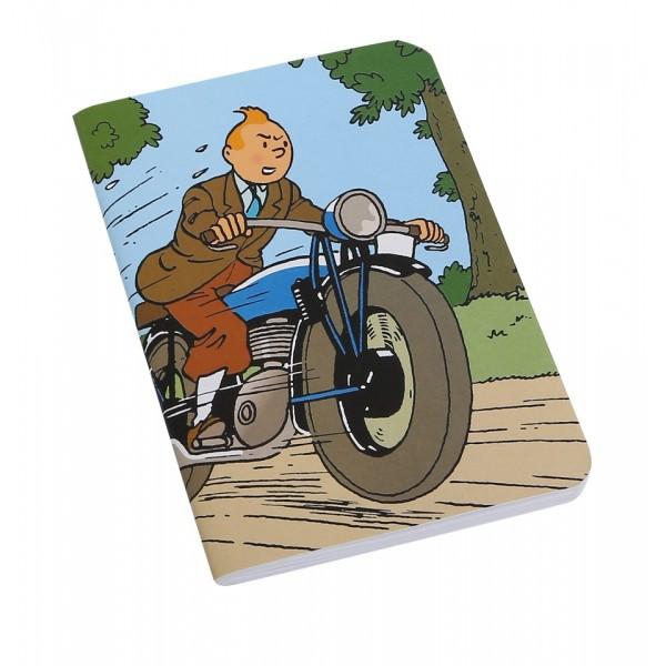 tintin notebook motorcycle small