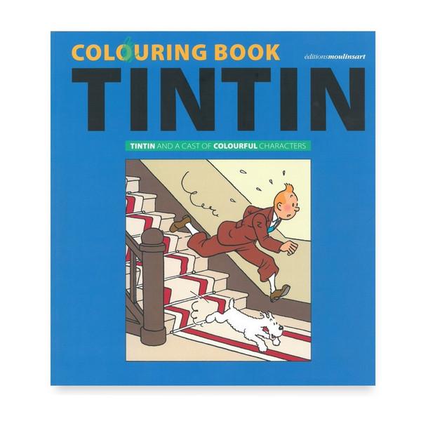 tintin colouring book