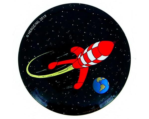Tintin Magnet Rocket round