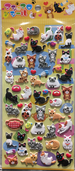 Stickers Mini Puffy Cats