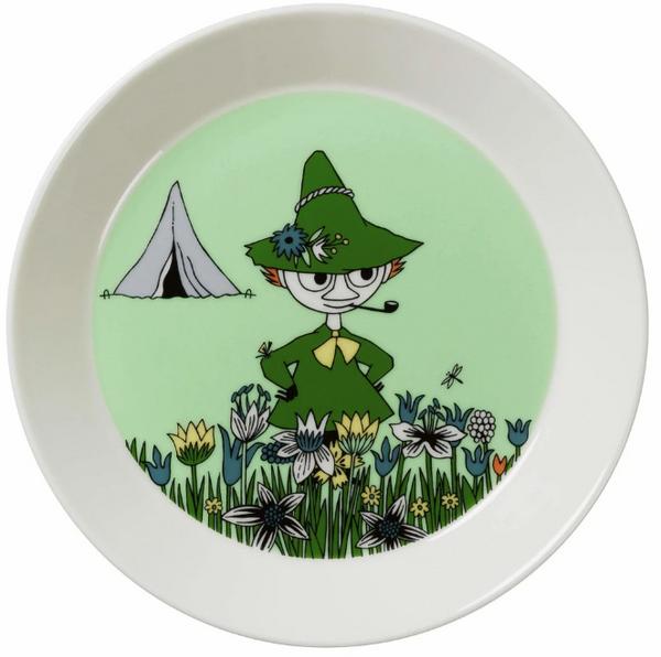 snufkin moomin plate arabia porcelain