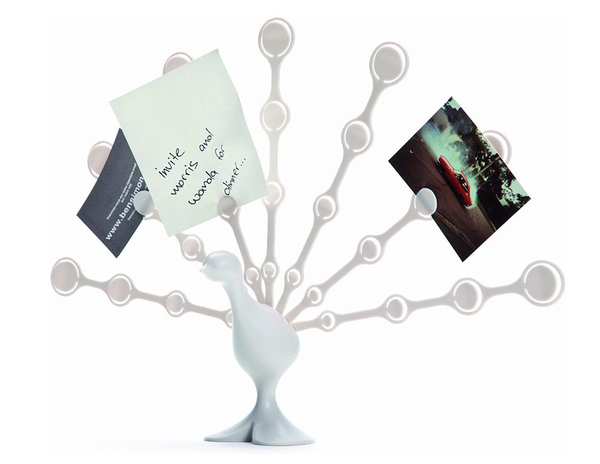 freddy feathers note holder white
