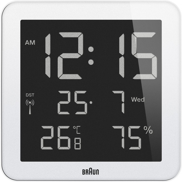 Braun Digital Wall Clock BNC014WH