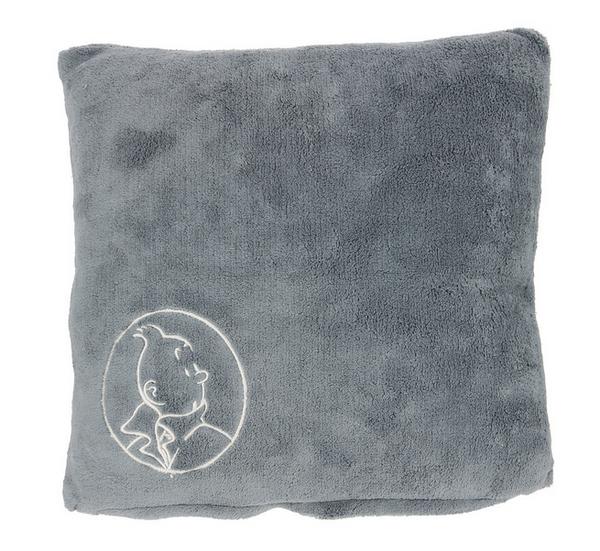 Tintin Square Pillow grey