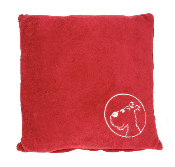 Milou Square Pillow red