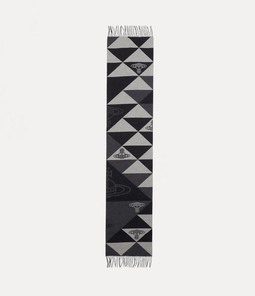 Vivienne Westwood Mandala Orb Scarf grey 1