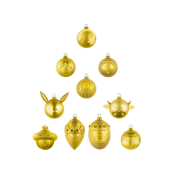 Le Palle Presepe Gold / 10 piece Holiday Ornament Set