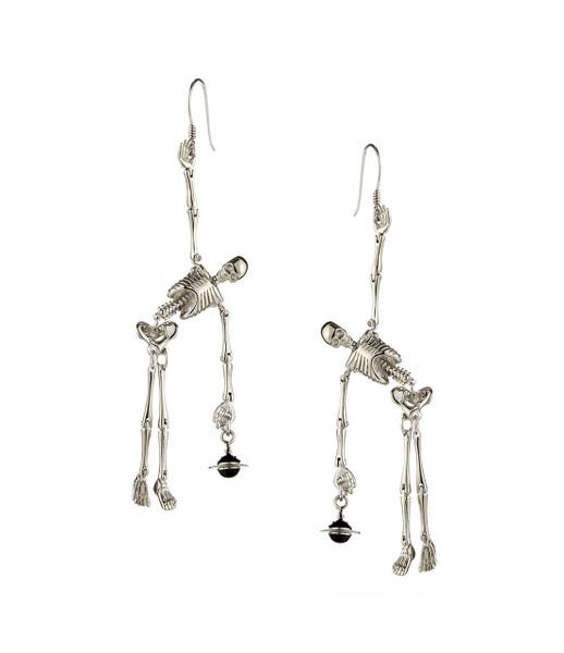 Vivienne Westwood Skeleton Earrings Palladium