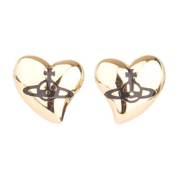 Vivienne Westwood New Heart Stud Earrings
