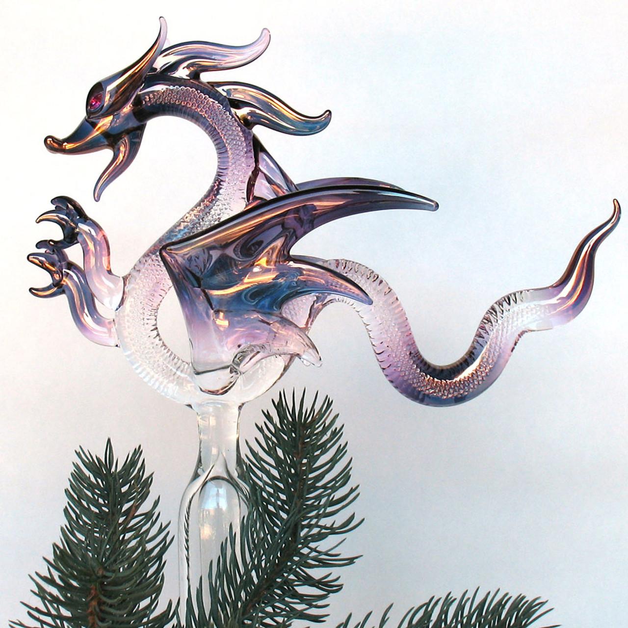 Dragon Christmas Tree Topper Hand Blown Glass Ornament ...