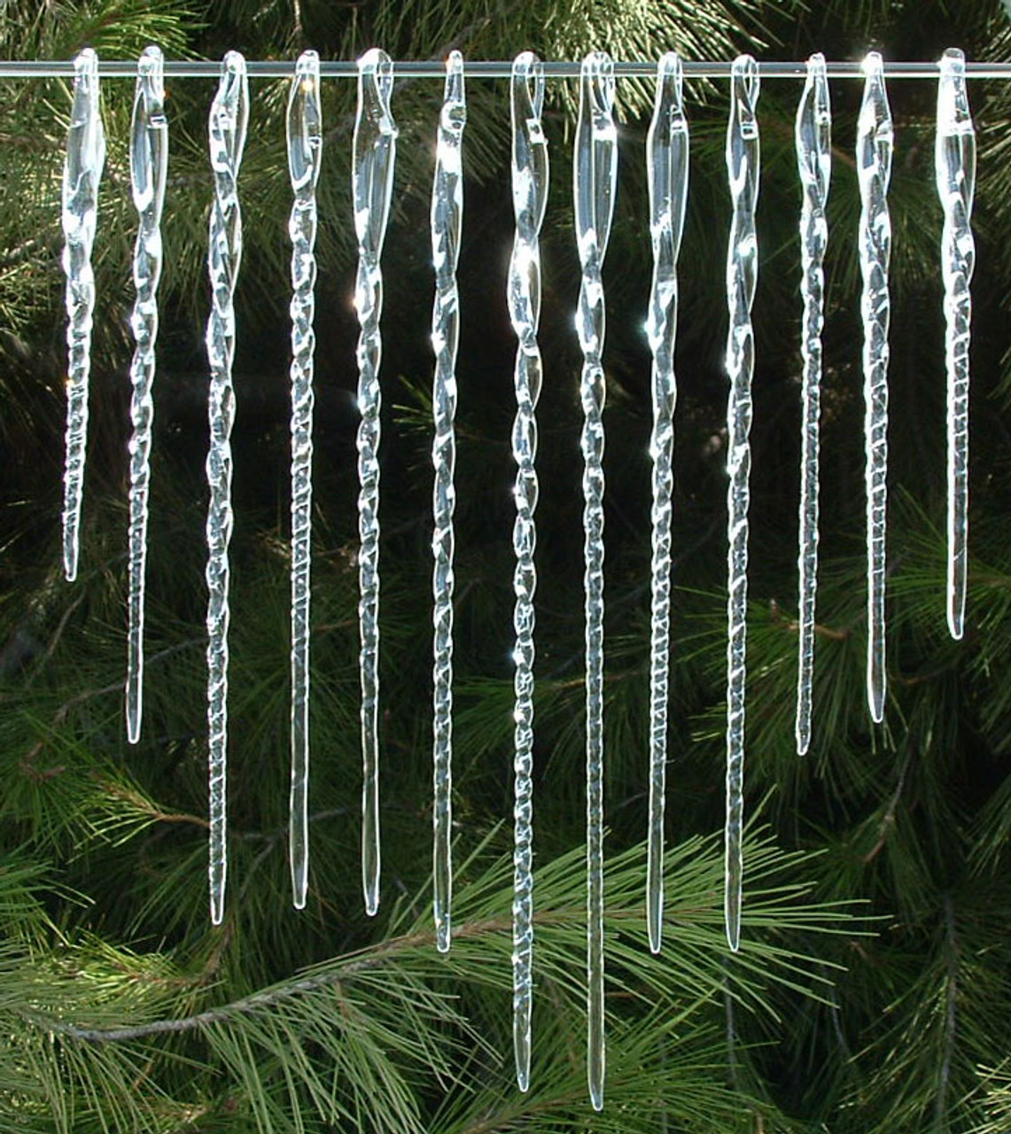 Hand Blown Glass Icicle Christmas Ornaments - Hand Blown Glass Icicle Christmas Ornaments - Prochaska Gallery