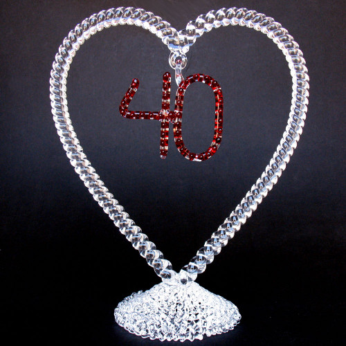 40th Anniversary Wedding Cake Topper
