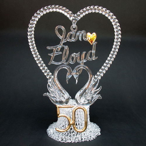 50th Anniversary Personalized Wedding Cake Topper