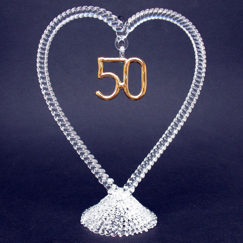 50th Anniversary Wedding Cake Topper