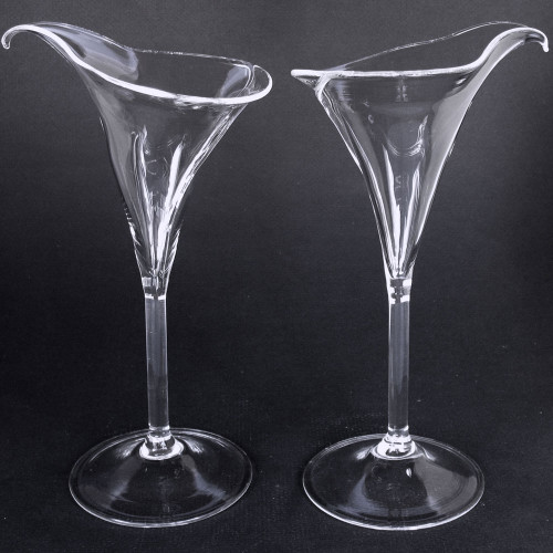 Calla Lily Lilies Flutes Champagne Glasses