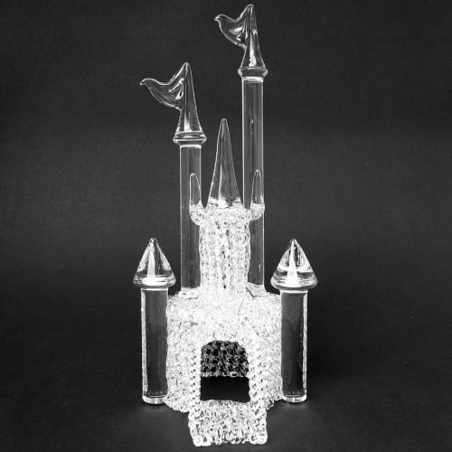 Blown Glass Castle Wedding Cake Topper