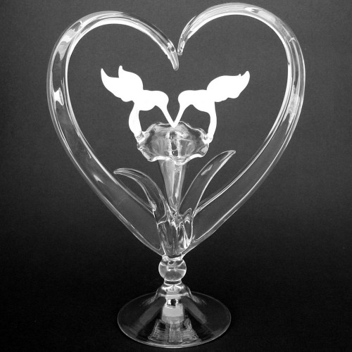 Hand Blown Glass Hummingbird Wedding Cake Topper
