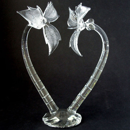 Blown Glass Palm Tree Wedding Cake Topper