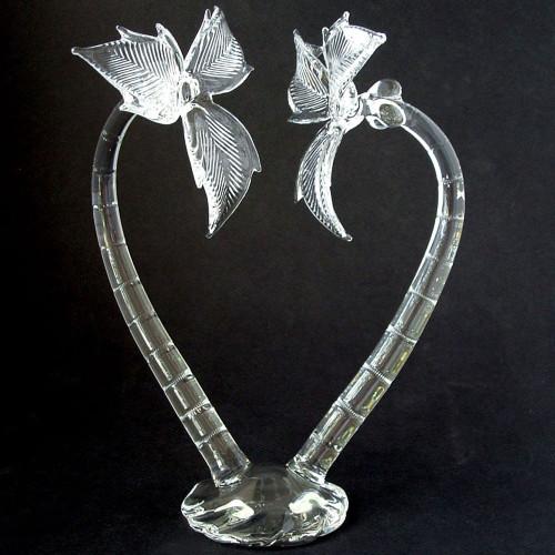 Blown Glass Palm Tree Wedding Cake Topper