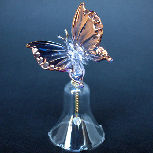 Butterfly Bell Hand Blown Glass