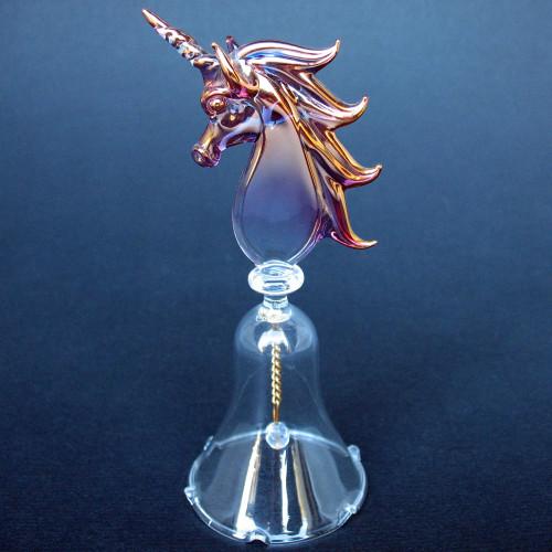 Unicorn Bell Hand Blown Glass
