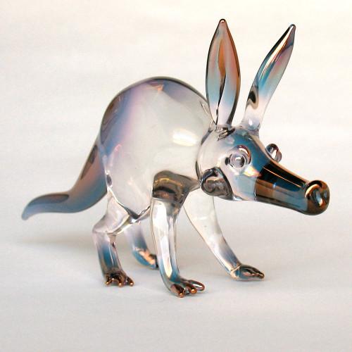 Hand Blown Glass Aardvark Figurine