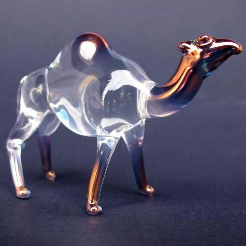 Hand Blown Glass Camel Figurine