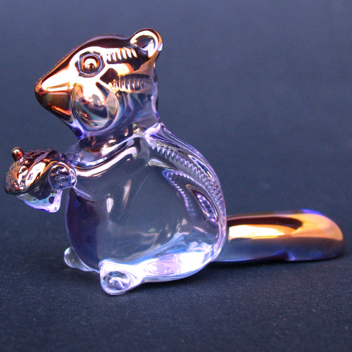 Hand Blown Glass Chipmunk Figurine