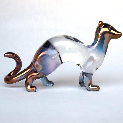 Hand Blown Glass Ferret Figurine