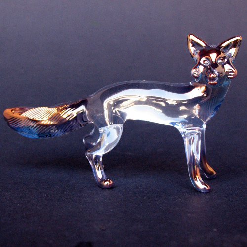 Hand Blown Glass Fox Figurine