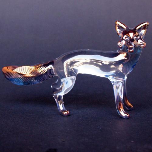 Hand Blown Glass Fox Figurine