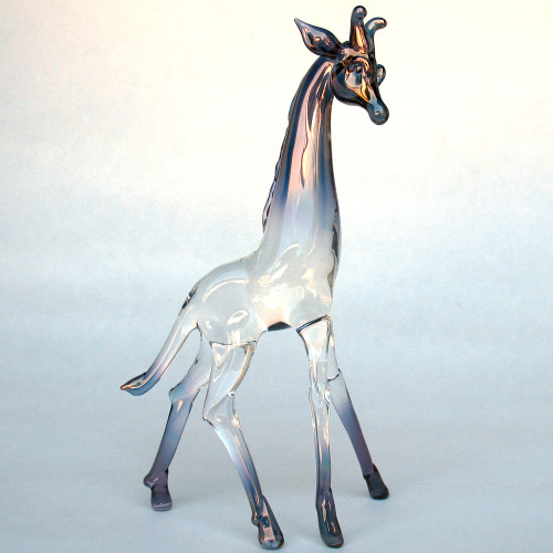 Hand Blown Glass Giraffe Figurine
