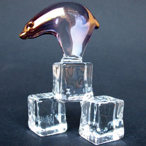 Hand Blown Glass Polar Bear