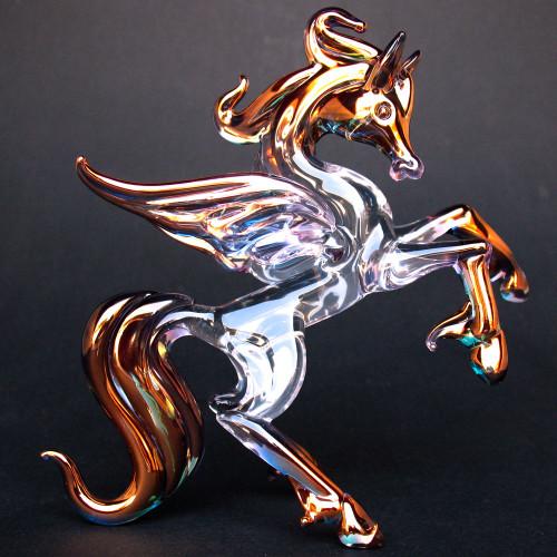 Hand Blown Glass Pegasus