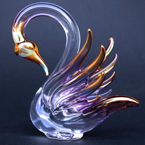 Hand Blown Glass Swan