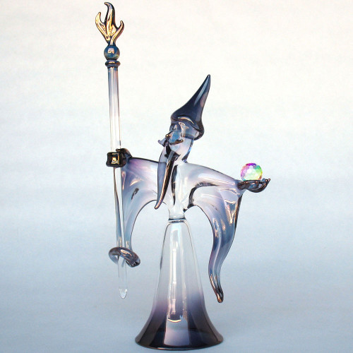 Hand Blown Glass Wizard
