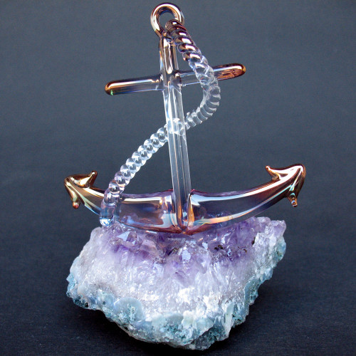 Hand Blown Glass Anchor