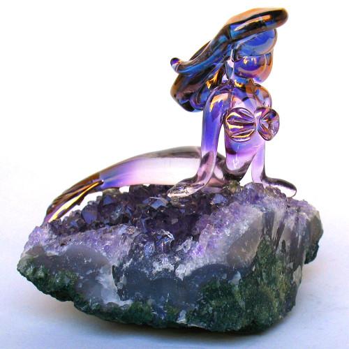 Hand Blown Glass Mermaid