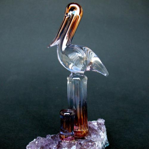 Hand Blown Glass Pelican