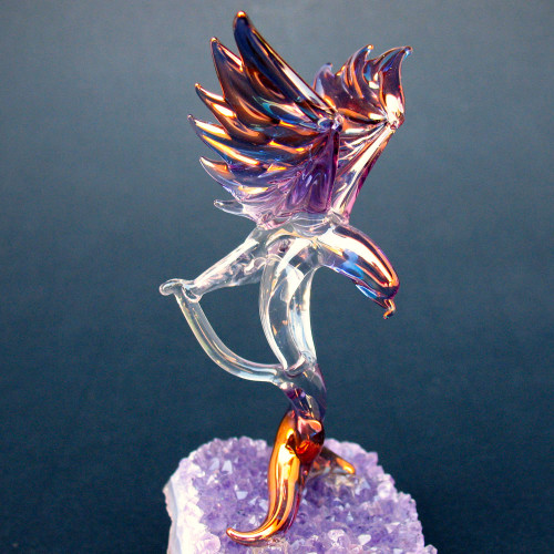 Hand Blown Glass Eagle