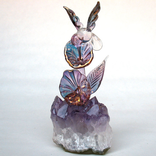 Hand Blown Glass Hummingbird Figurine